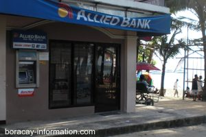 ATM along the beach on Boracay