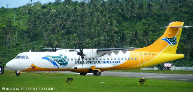 A Cebu Pacific ATR72 at the Boracay Airport in Caticlan